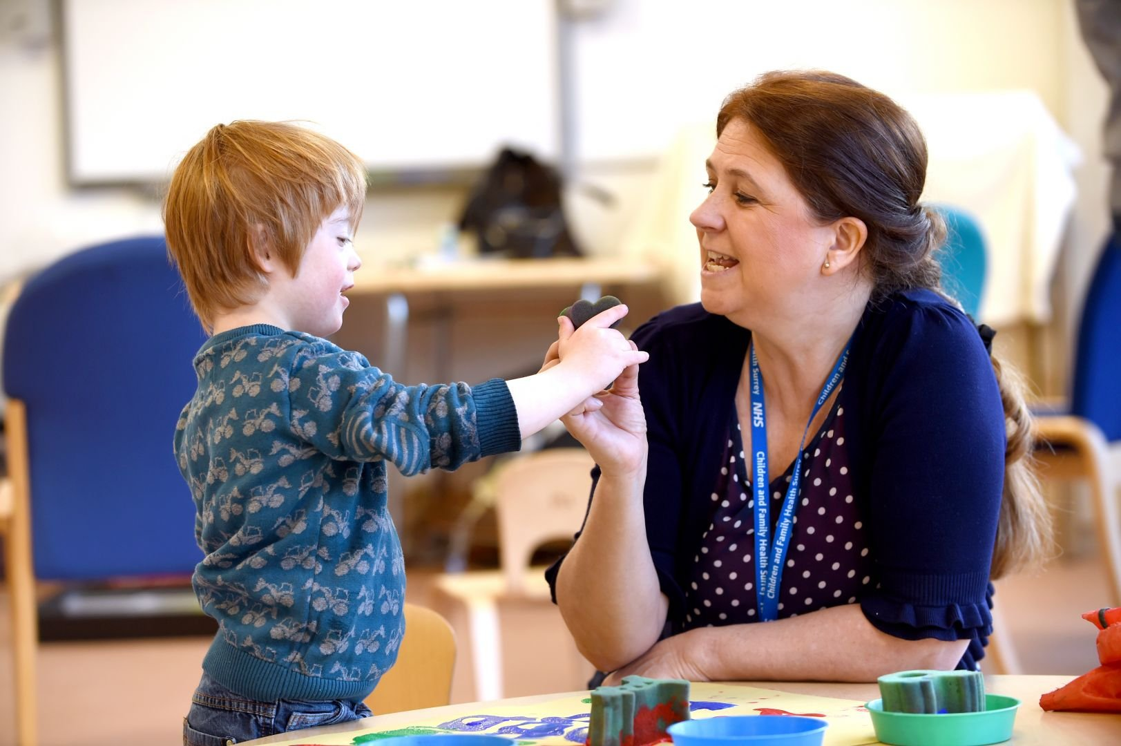 Speech and Language Therapist with Child